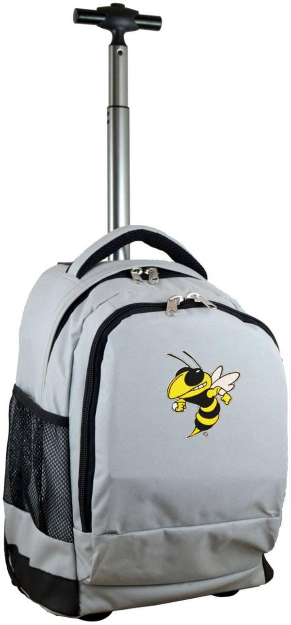 Mojo Georgia Tech Yellow Jackets Wheeled Premium Grey Backpack product image