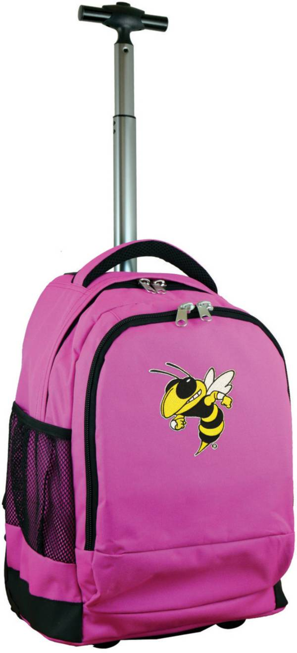 Mojo Georgia Tech Yellow Jackets Wheeled Premium Pink Backpack product image