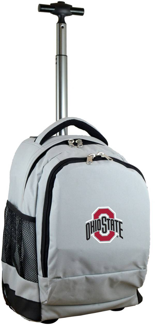 Mojo Ohio State Buckeyes Wheeled Premium Grey Backpack product image