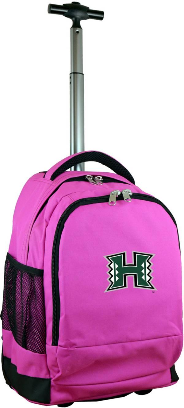 Mojo Hawai'i Warriors Wheeled Premium Pink Backpack product image