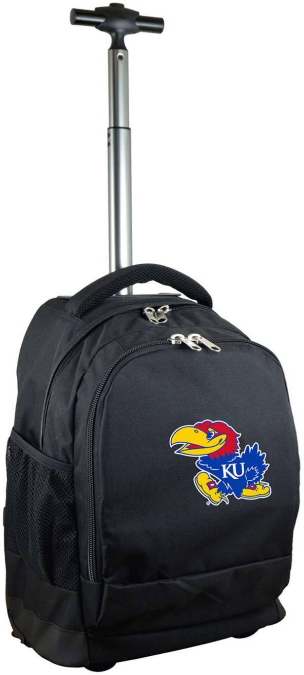 Mojo Kansas Jayhawks Wheeled Premium Black Backpack product image