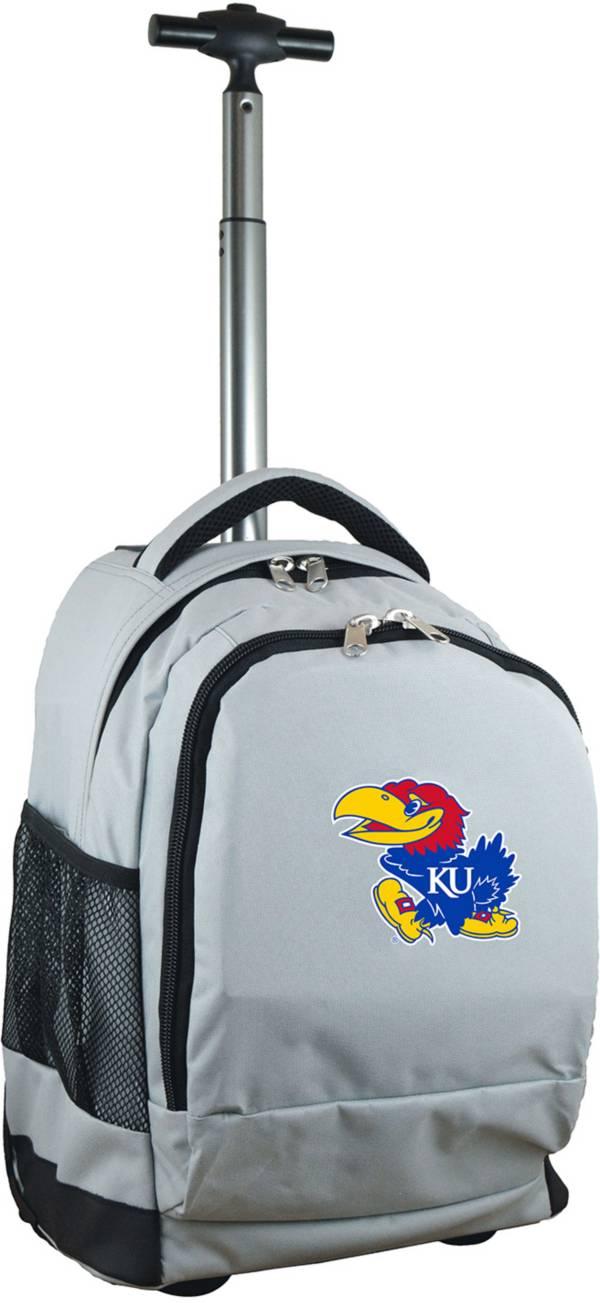 Mojo Kansas Jayhawks Wheeled Premium Grey Backpack product image
