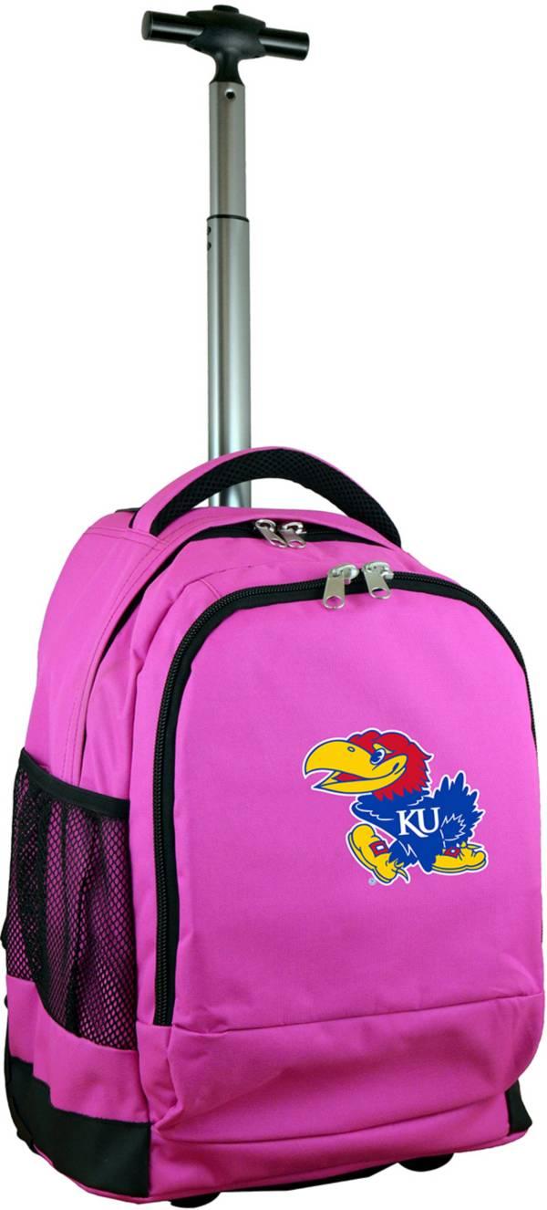 Mojo Kansas Jayhawks Wheeled Premium Pink Backpack product image