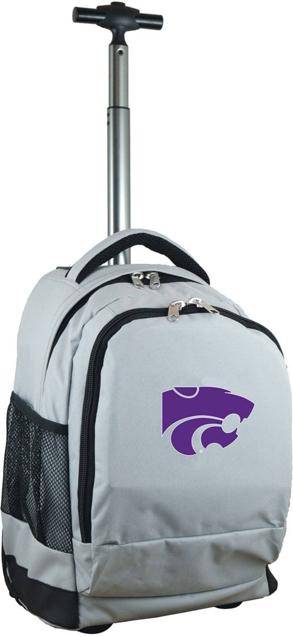 Mojo Kansas State Wildcats Wheeled Premium Grey Backpack product image