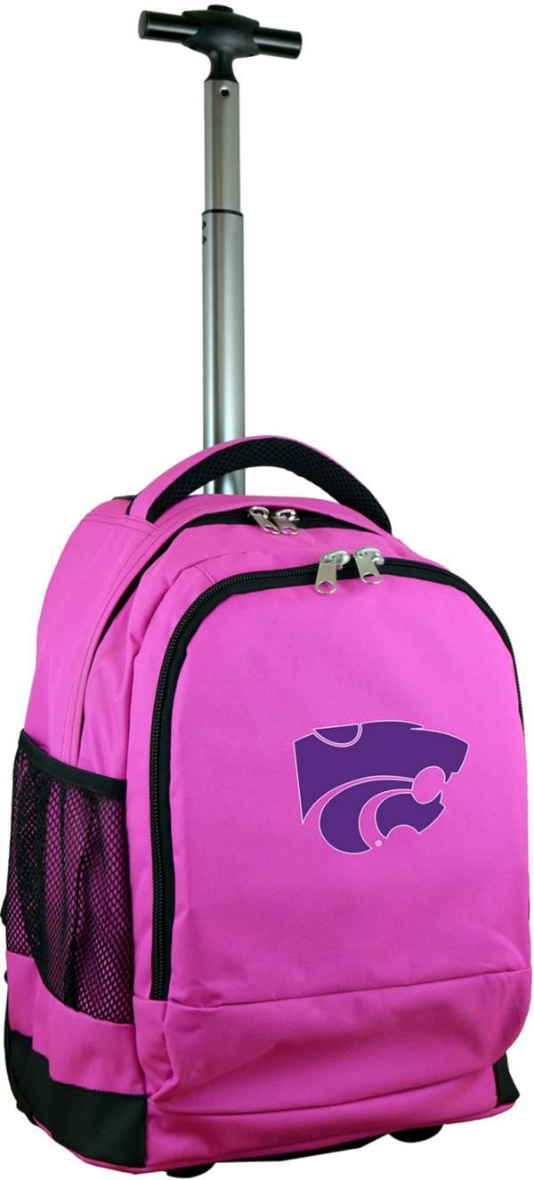 Mojo Kansas State Wildcats Wheeled Premium Pink Backpack product image
