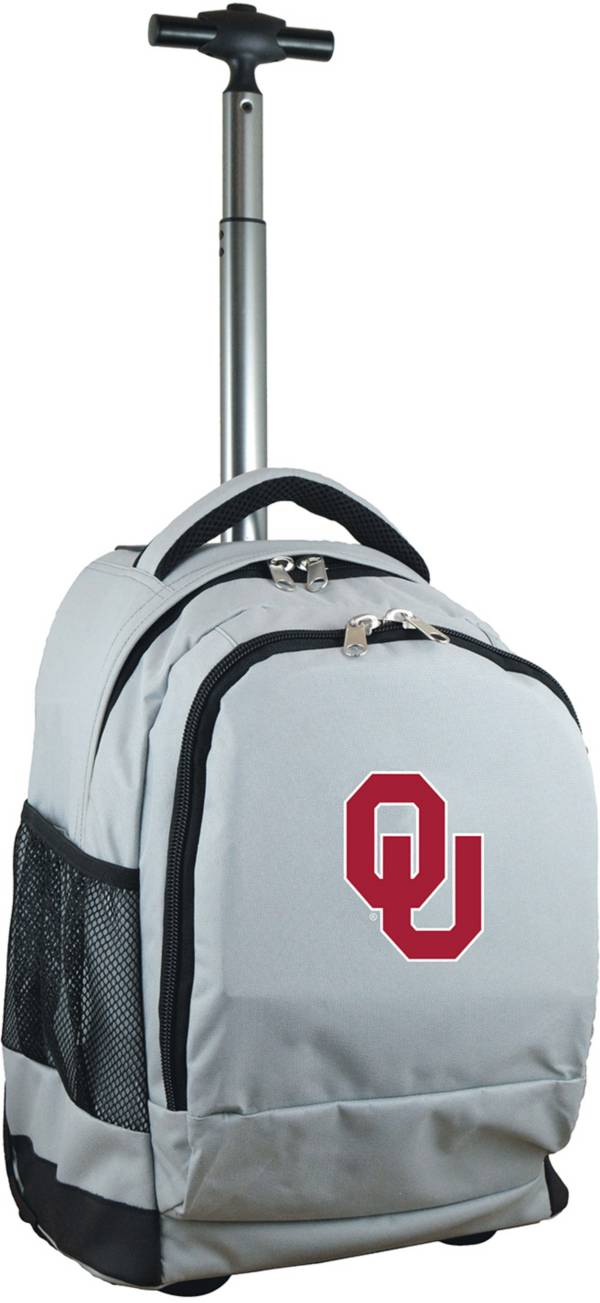Mojo Oklahoma Sooners Wheeled Premium Grey Backpack product image