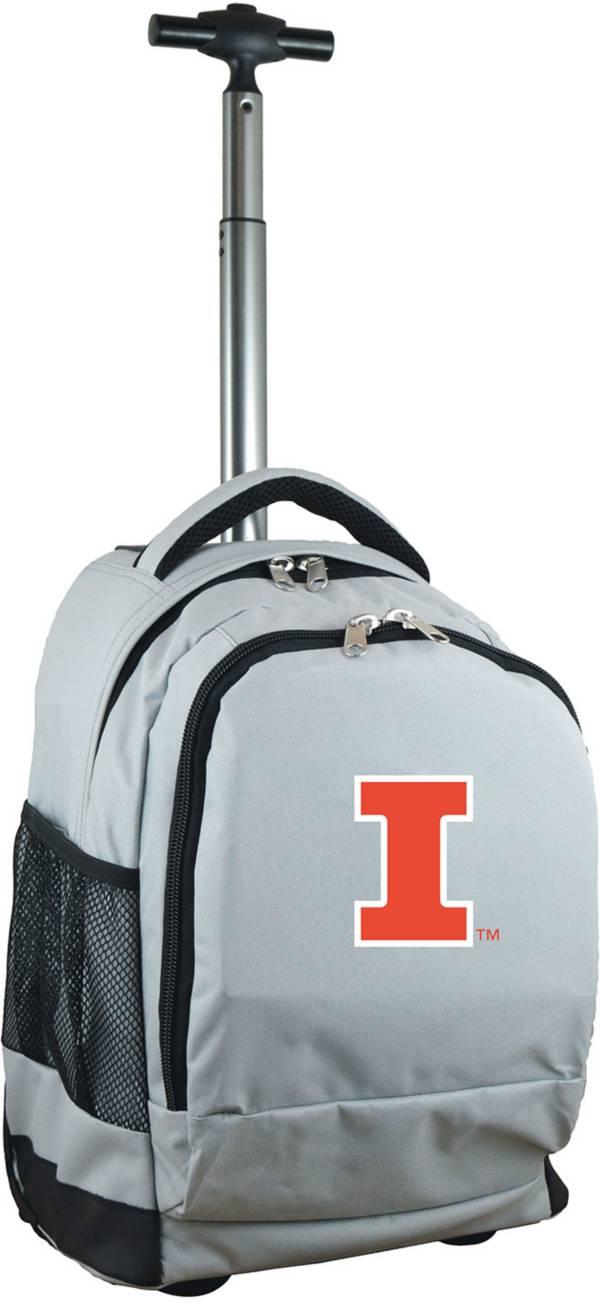 Mojo Illinois Fighting Illini Wheeled Premium Grey Backpack product image