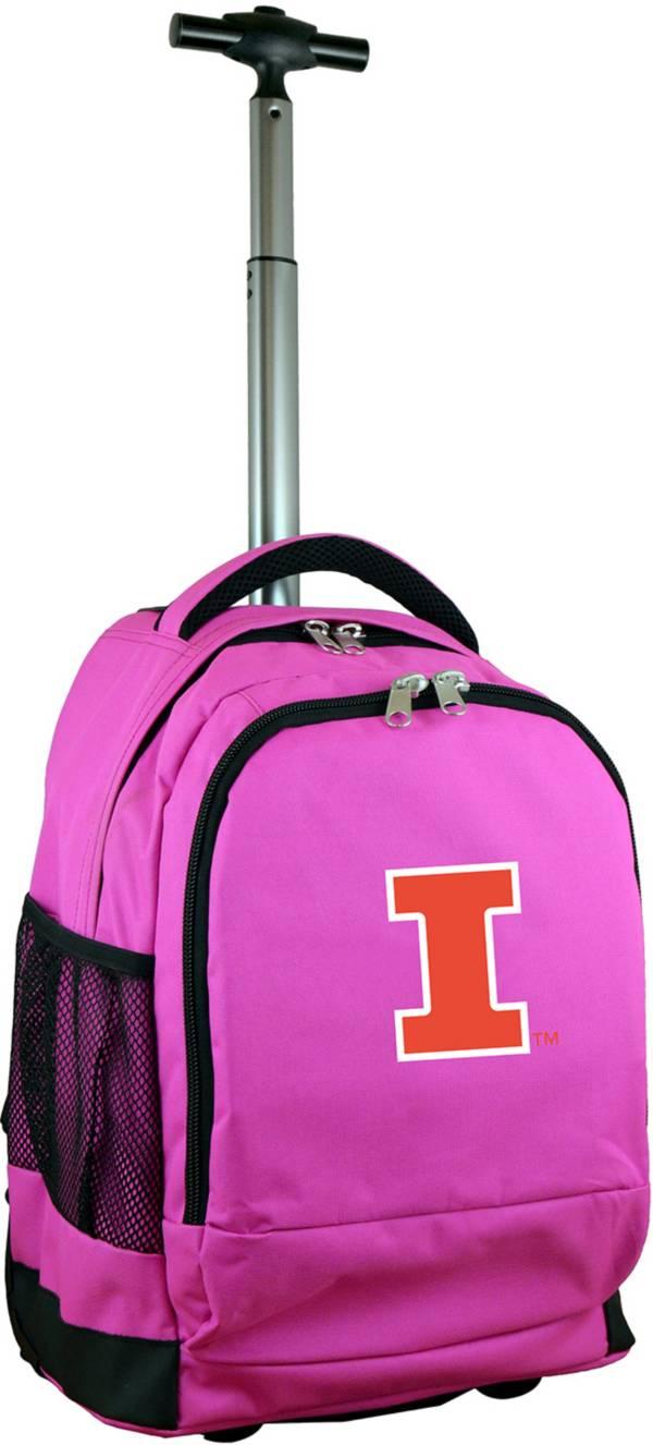 Mojo Illinois Fighting Illini Wheeled Premium Pink Backpack product image