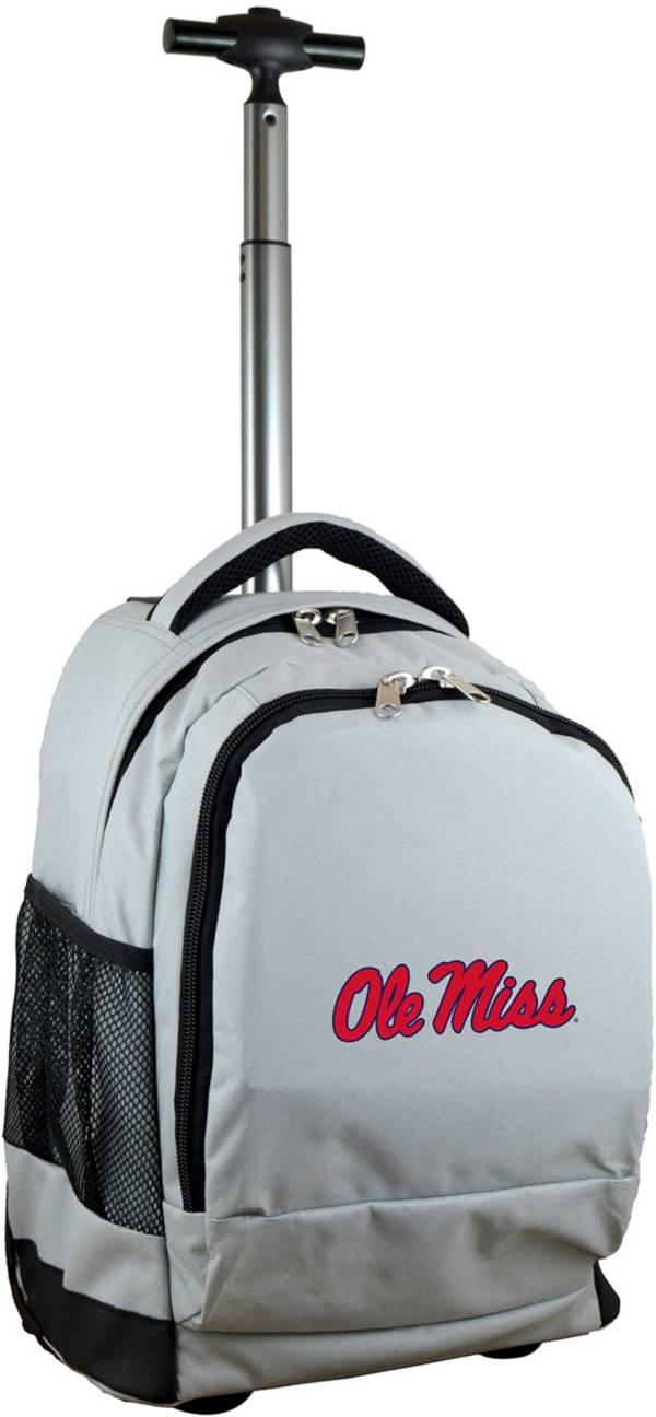 Mojo Ole Miss Rebels Wheeled Premium Grey Backpack product image