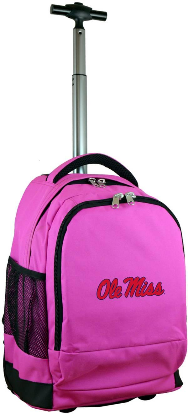 Mojo Ole Miss Rebels Wheeled Premium Pink Backpack product image