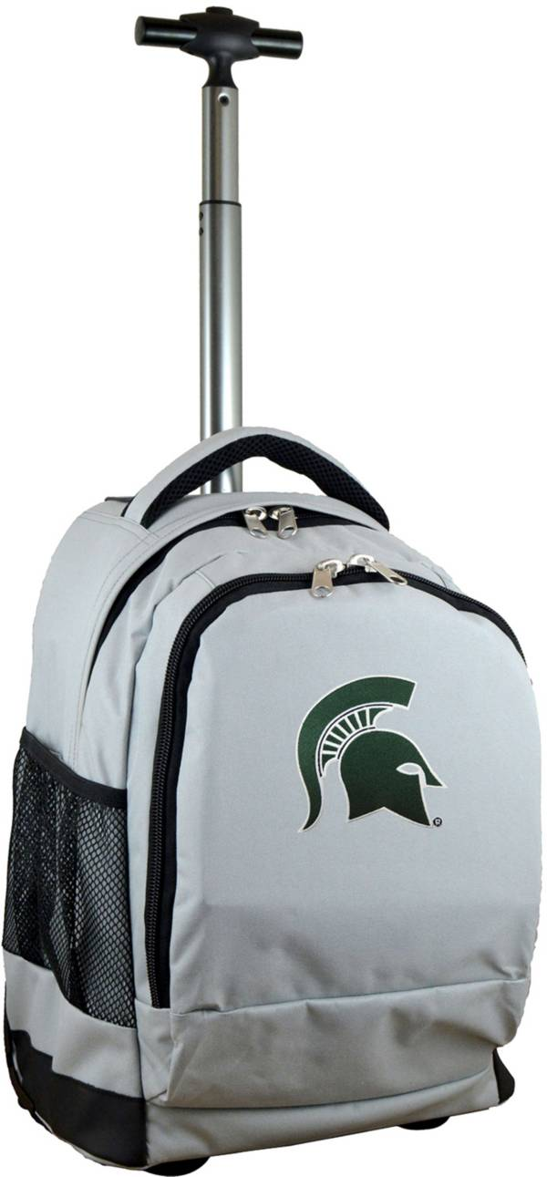 Mojo Michigan State Spartans Wheeled Premium Grey Backpack product image