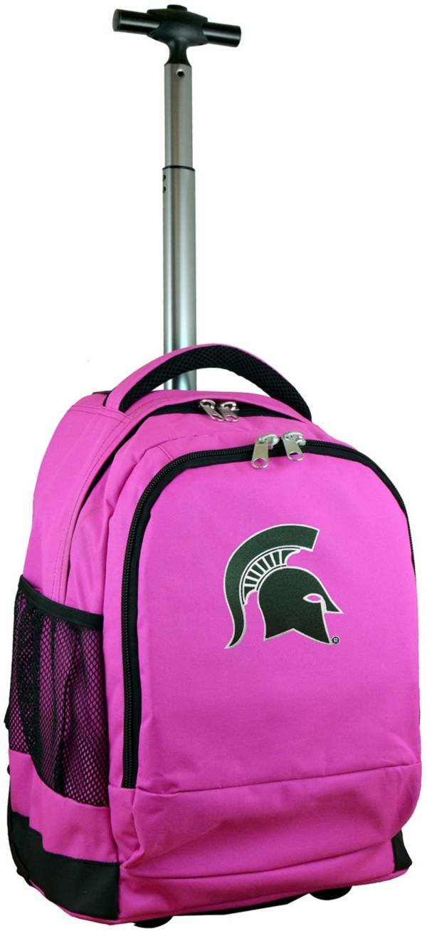 Mojo Michigan State Spartans Wheeled Premium Pink Backpack product image