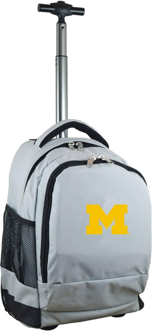 Mojo Michigan Wolverines Wheeled Premium Grey Backpack product image