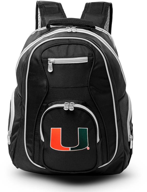 Mojo Miami Hurricanes Colored Trim Laptop Backpack product image