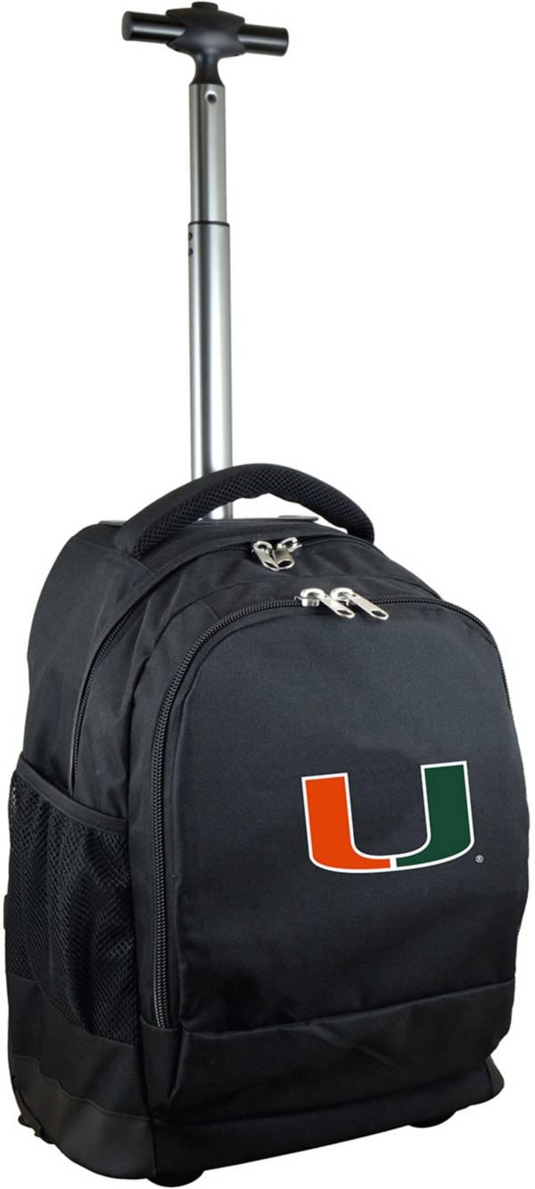 Mojo Miami Hurricanes Wheeled Premium Black Backpack product image