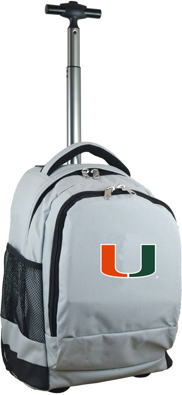 Mojo Miami Hurricanes Wheeled Premium Grey Backpack product image
