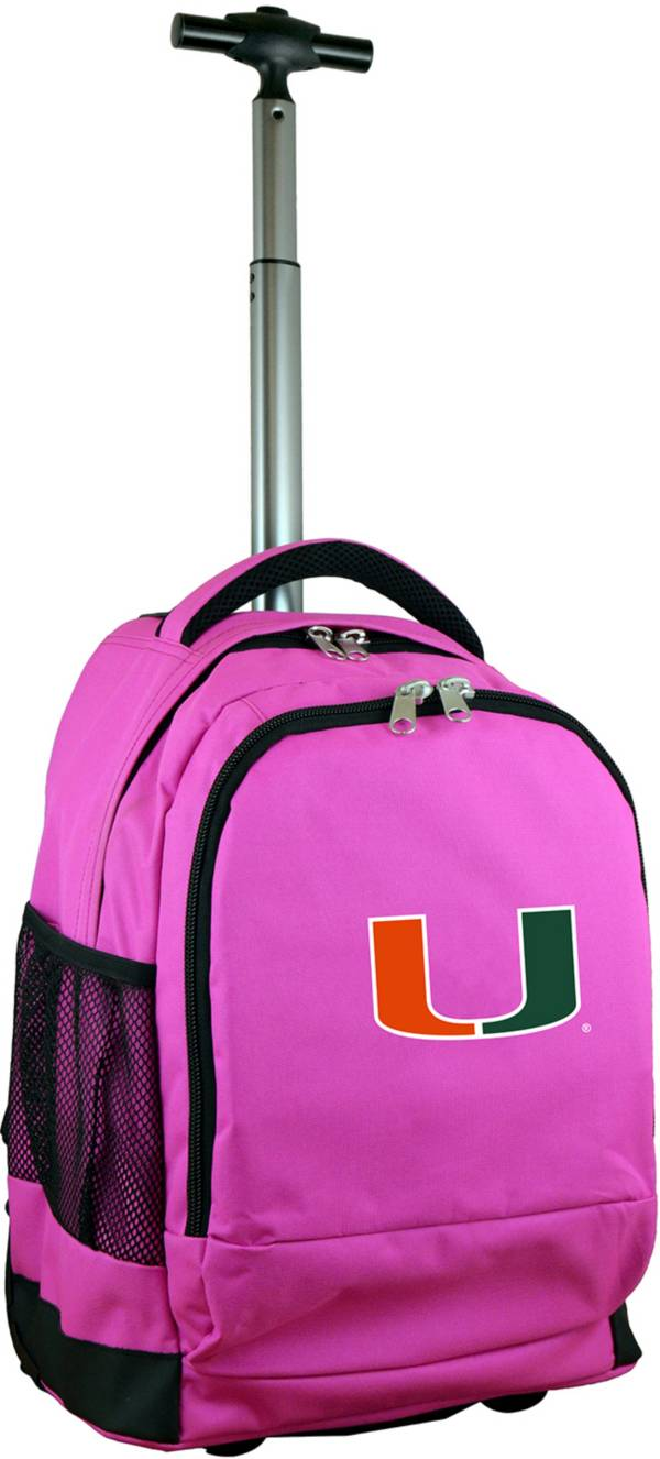 Mojo Miami Hurricanes Wheeled Premium Pink Backpack product image