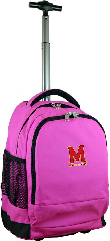 Mojo Maryland Terrapins Wheeled Premium Pink Backpack product image