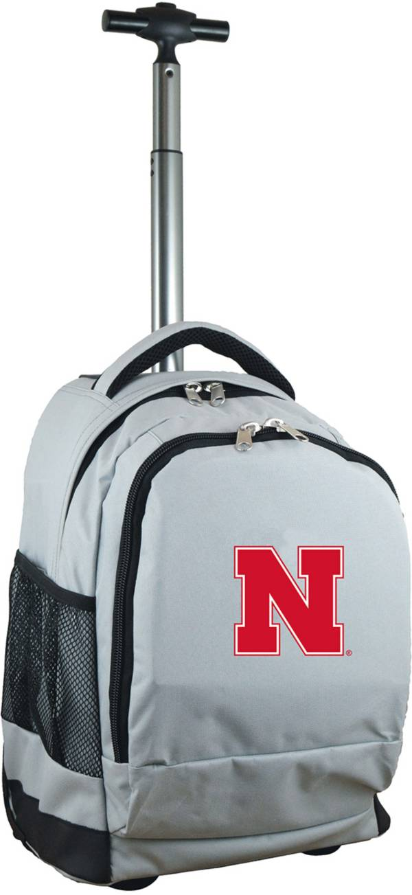 Mojo Nebraska Cornhuskers Wheeled Premium Grey Backpack product image