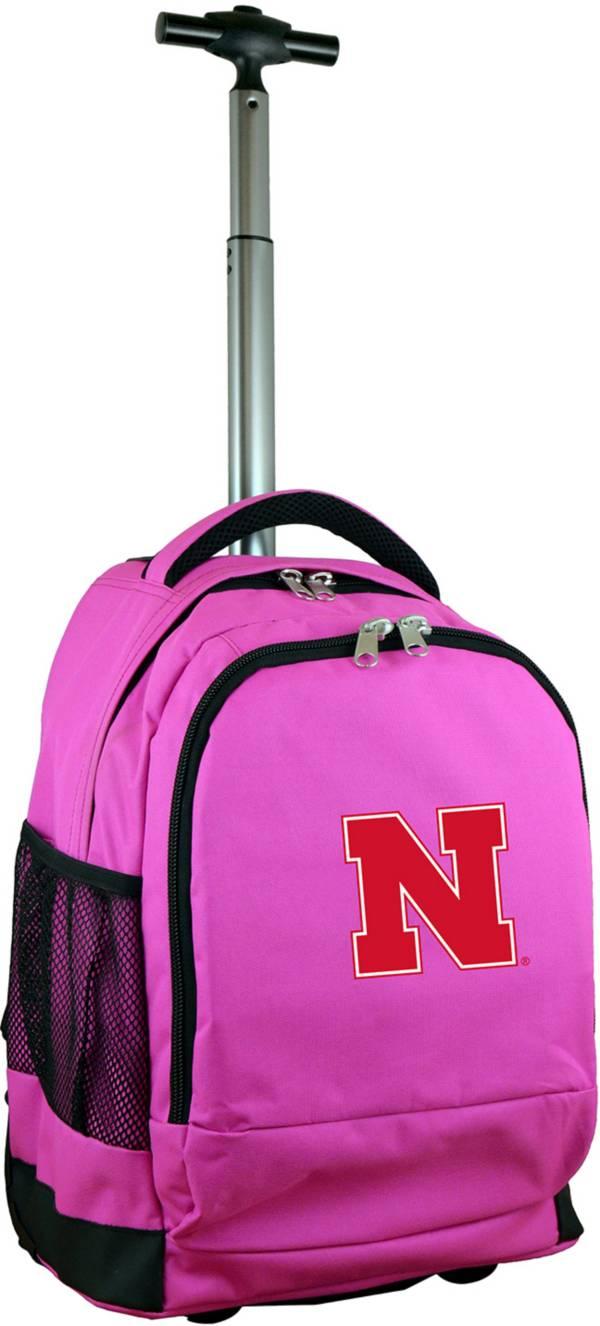 Mojo Nebraska Cornhuskers Wheeled Premium Pink Backpack product image