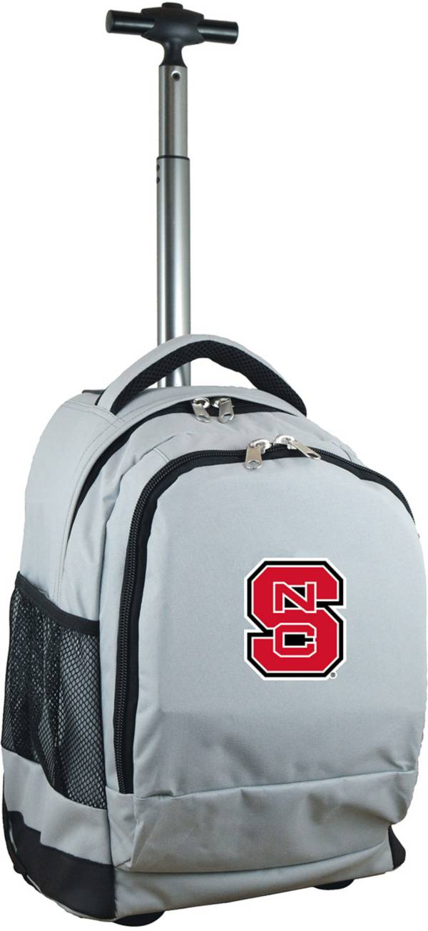 Mojo NC State Wolfpack Wheeled Premium Grey Backpack product image