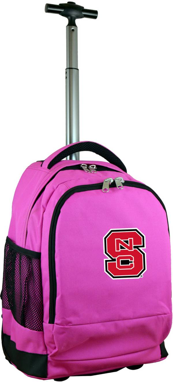 Mojo NC State Wolfpack Wheeled Premium Pink Backpack product image