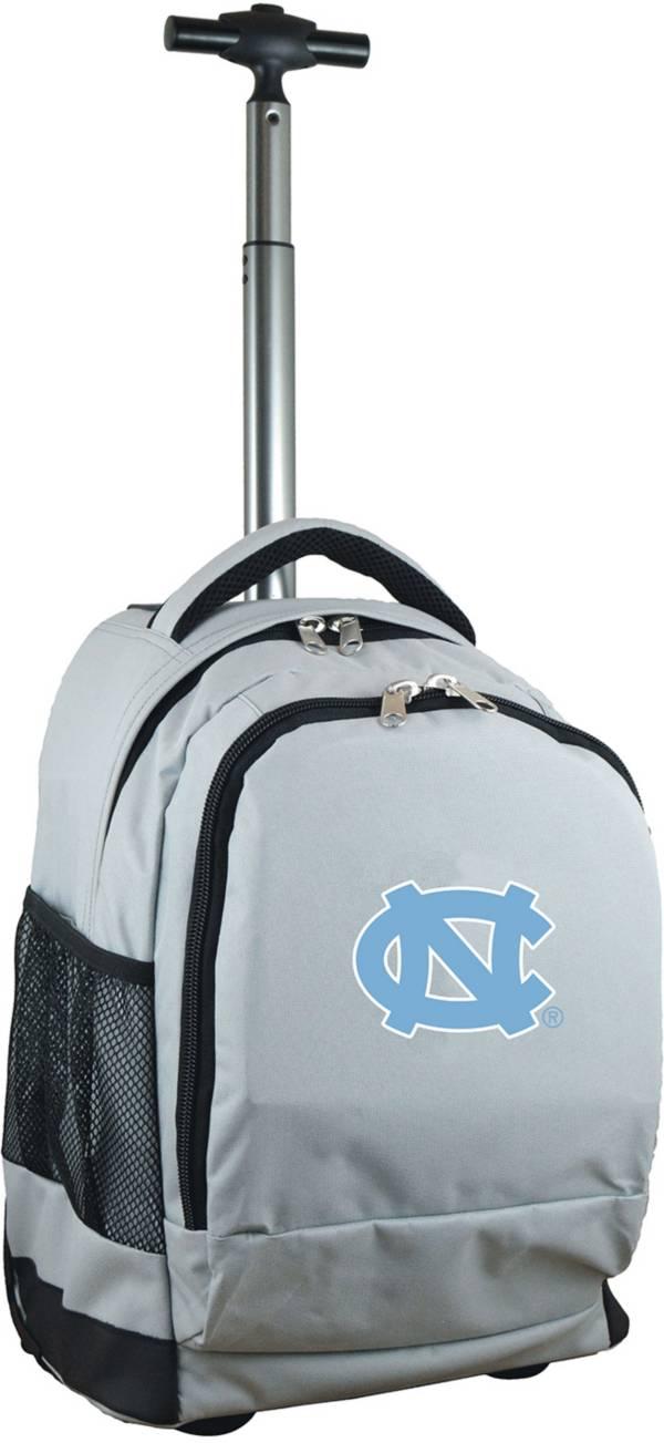 Mojo North Carolina Tar Heels Wheeled Premium Grey Backpack product image