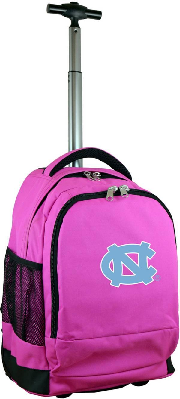 Mojo North Carolina Tar Heels Wheeled Premium Pink Backpack product image