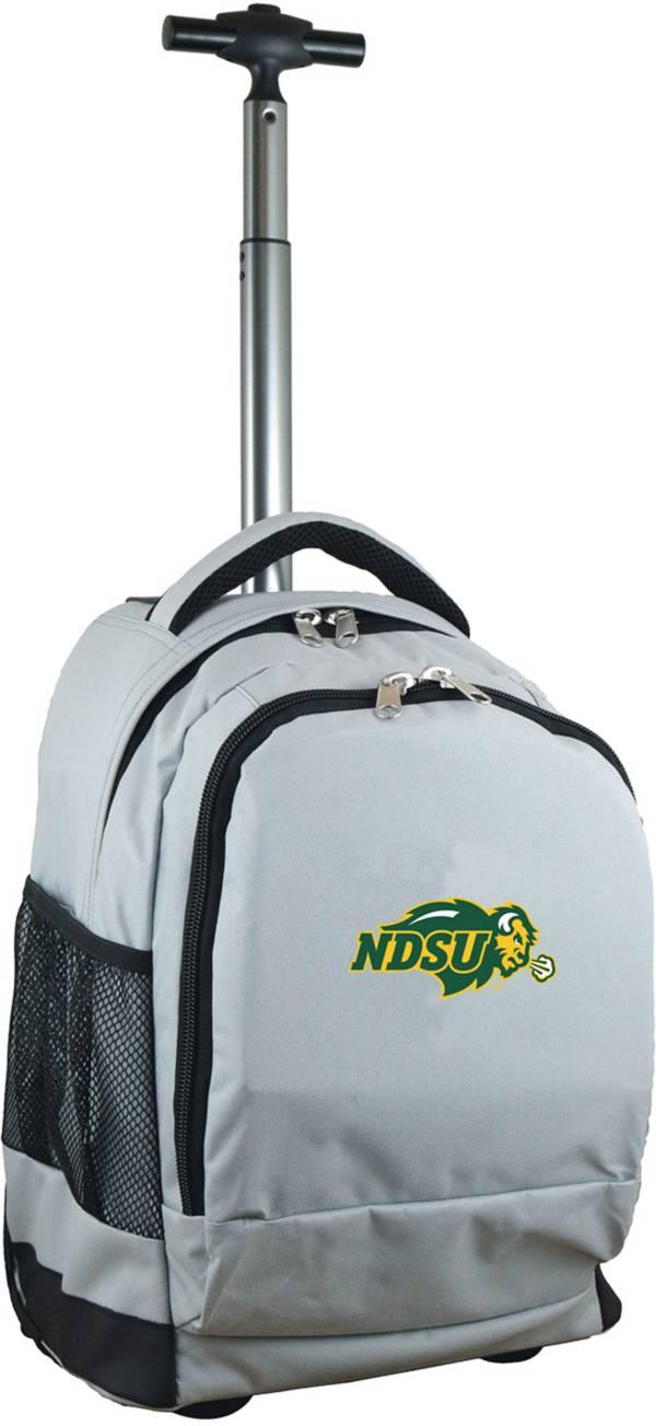 Mojo North Dakota State Bison Wheeled Premium Grey Backpack product image