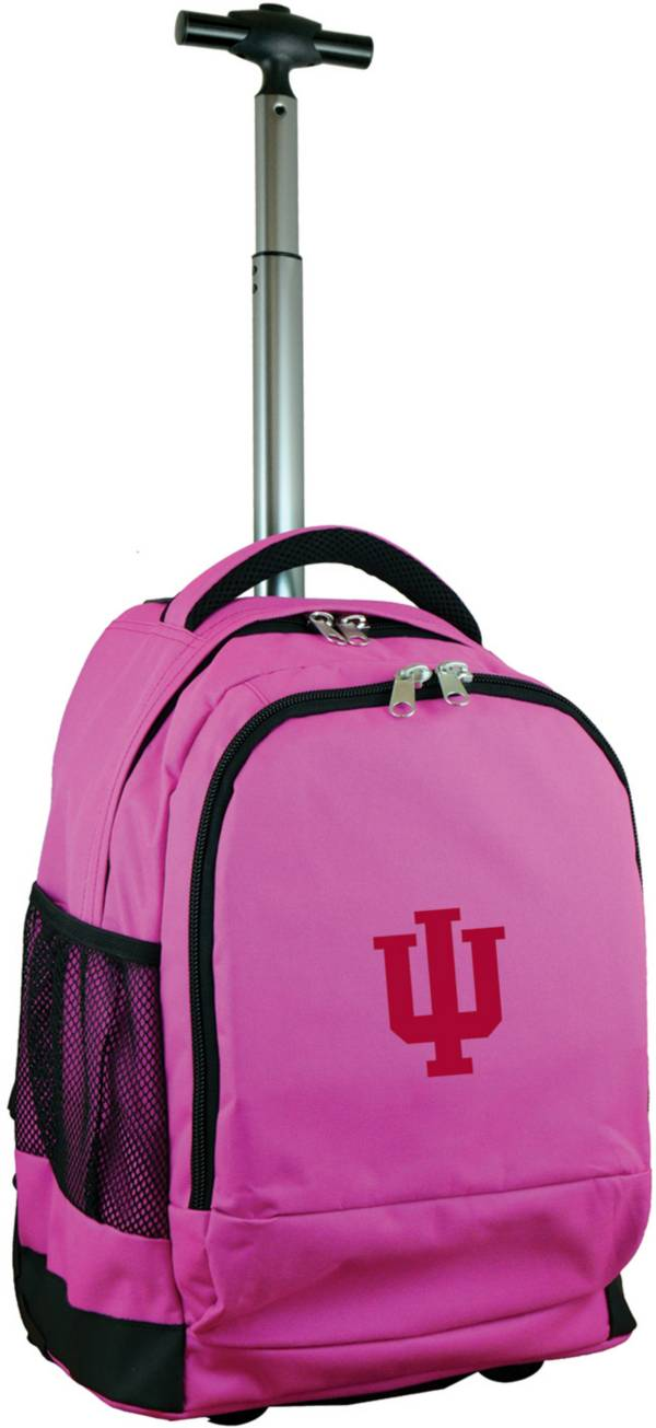 Mojo Indiana Hoosiers Wheeled Premium Pink Backpack product image