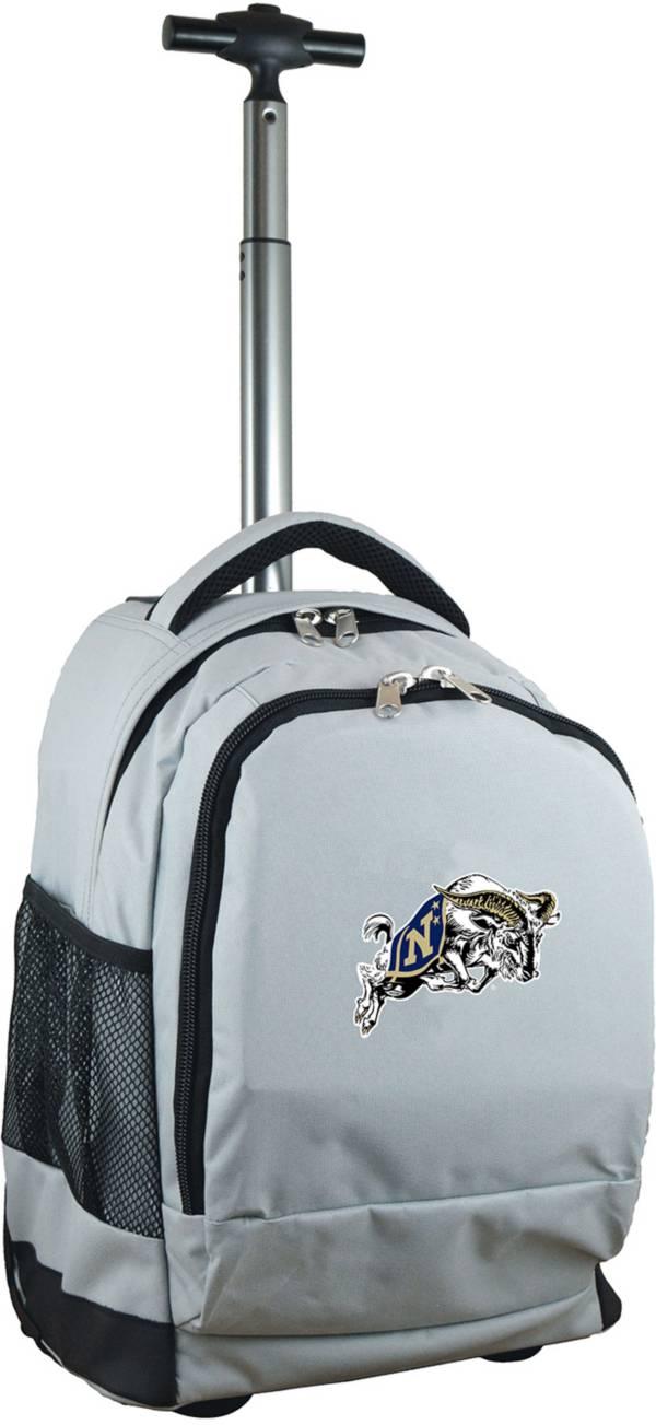 Mojo Navy Midshipmen Wheeled Premium Grey Backpack product image