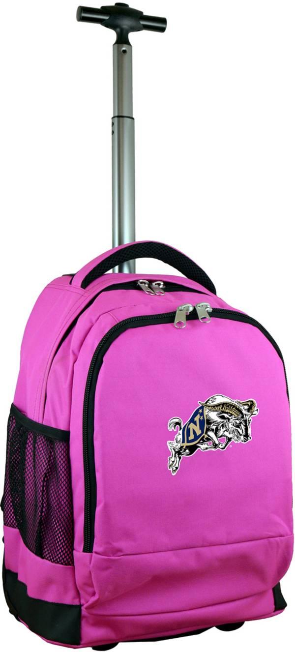Mojo Navy Midshipmen Wheeled Premium Pink Backpack product image