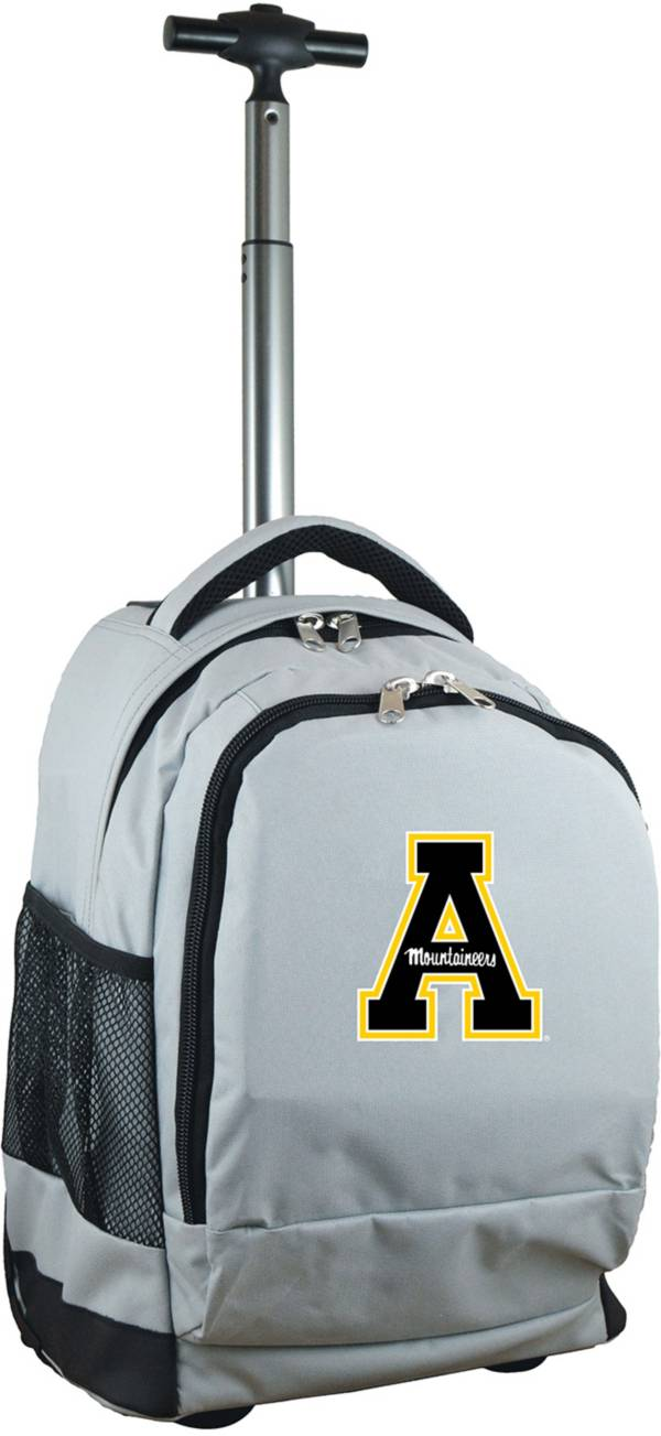 Mojo Appalachian State Mountaineers Wheeled Premium Grey Backpack product image