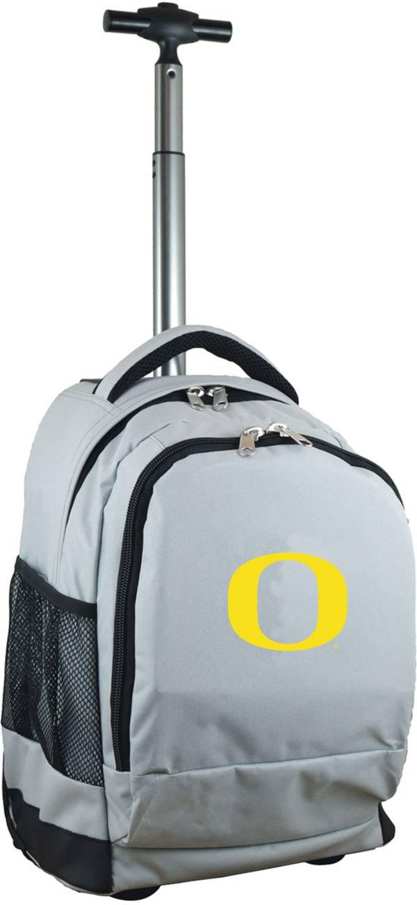 Mojo Oregon Ducks Wheeled Premium Grey Backpack product image