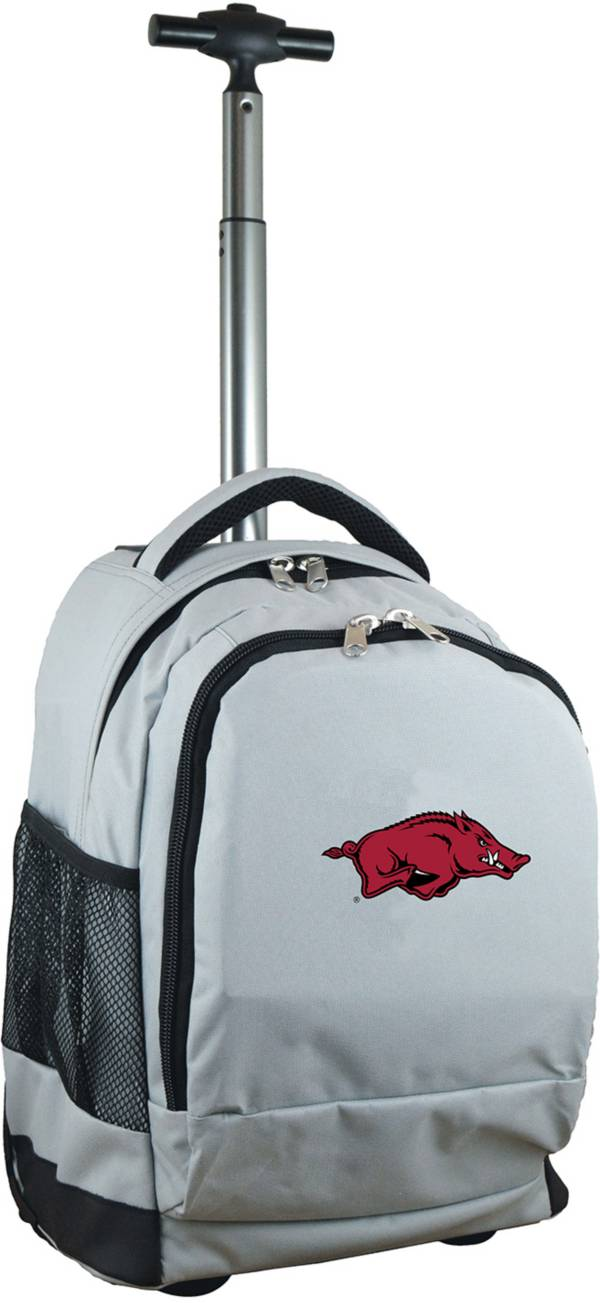 Mojo Arkansas Razorbacks Wheeled Premium Grey Backpack product image