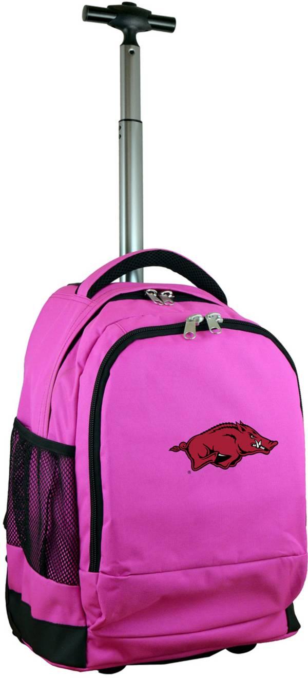 Mojo Arkansas Razorbacks Wheeled Premium Pink Backpack product image