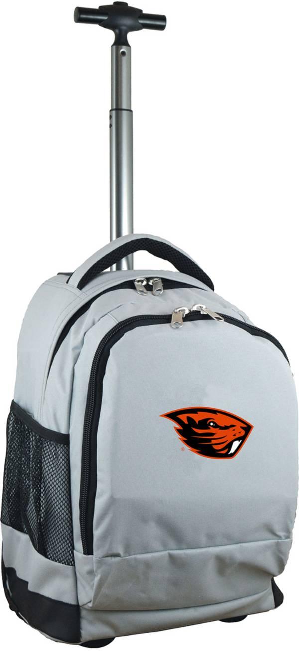 Mojo Oregon State Beavers Wheeled Premium Grey Backpack product image