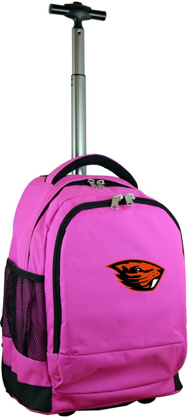 Mojo Oregon State Beavers Wheeled Premium Pink Backpack product image