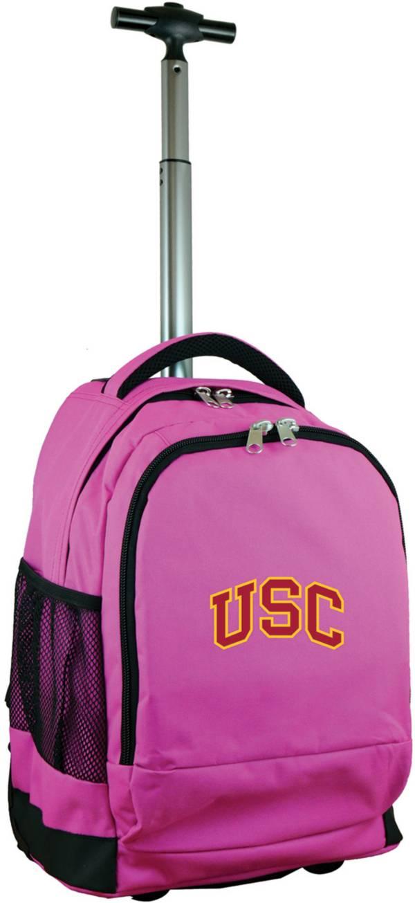 Mojo USC Trojans Wheeled Premium Pink Backpack product image