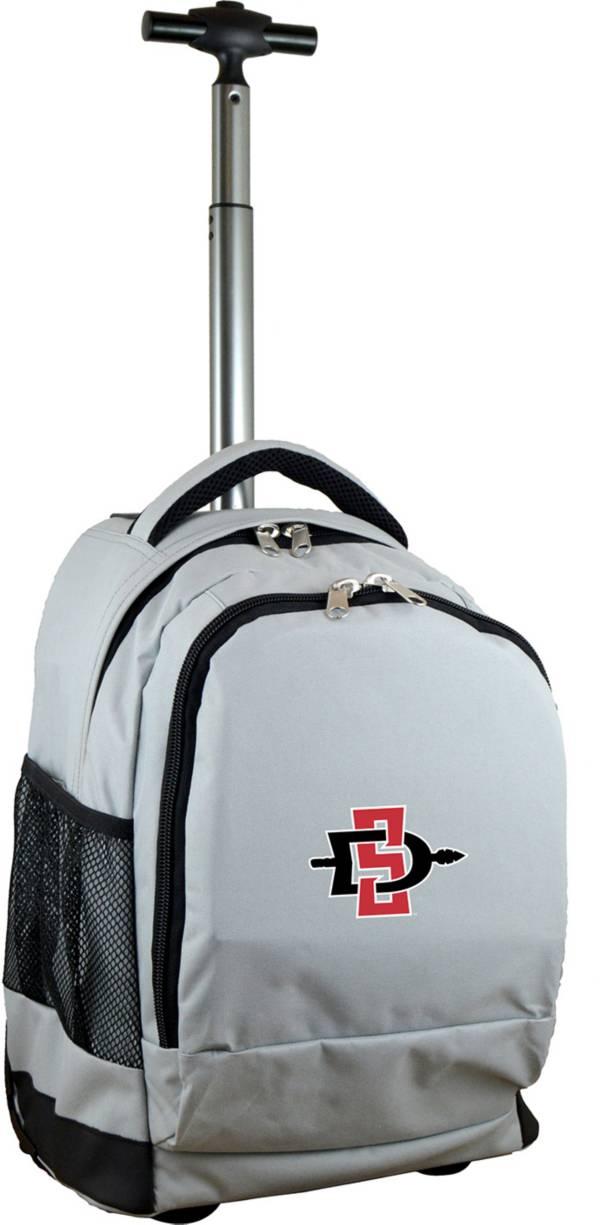 Mojo San Diego State Aztecs Wheeled Premium Grey Backpack product image
