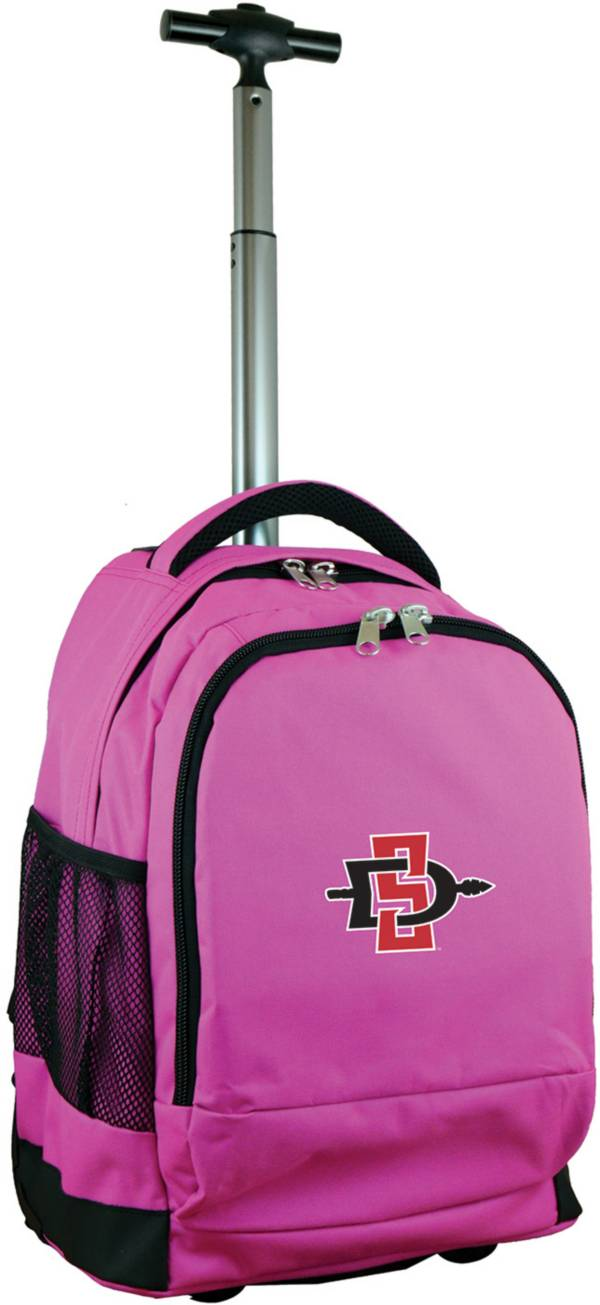 Mojo San Diego State Aztecs Wheeled Premium Pink Backpack product image