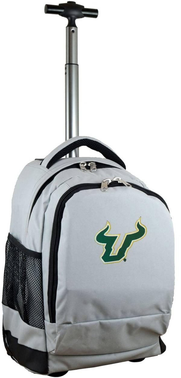 Mojo South Florida Bulls Wheeled Premium Grey Backpack product image