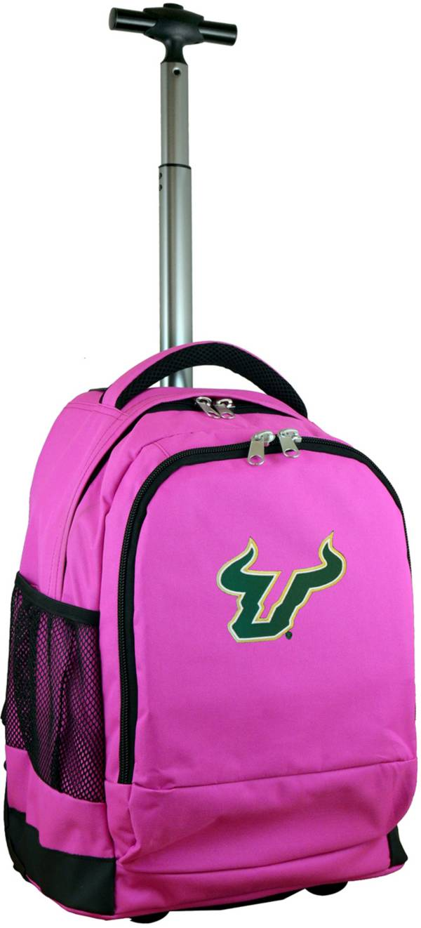 Mojo South Florida Bulls Wheeled Premium Pink Backpack product image