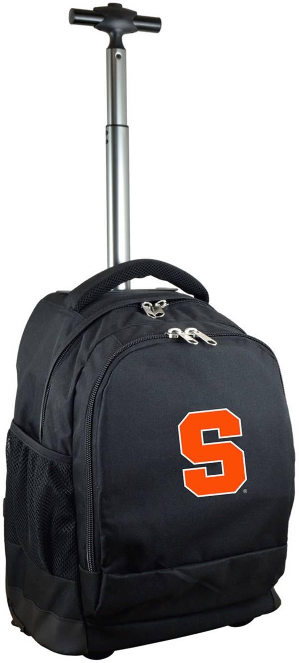Mojo Syracuse Orange Wheeled Premium Black Backpack product image