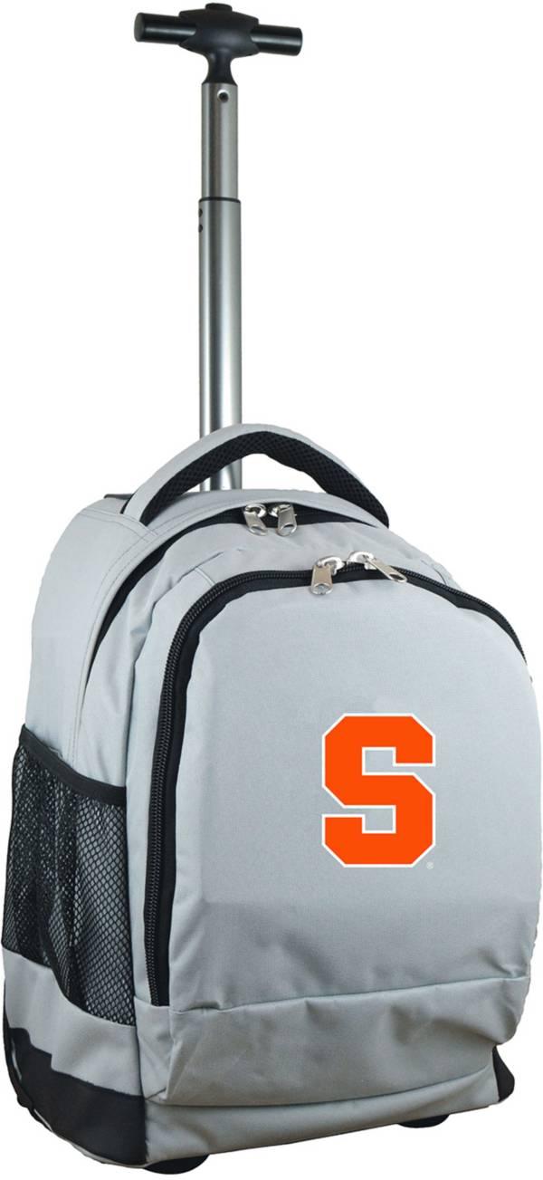 Mojo Syracuse Orange Wheeled Premium Grey Backpack product image