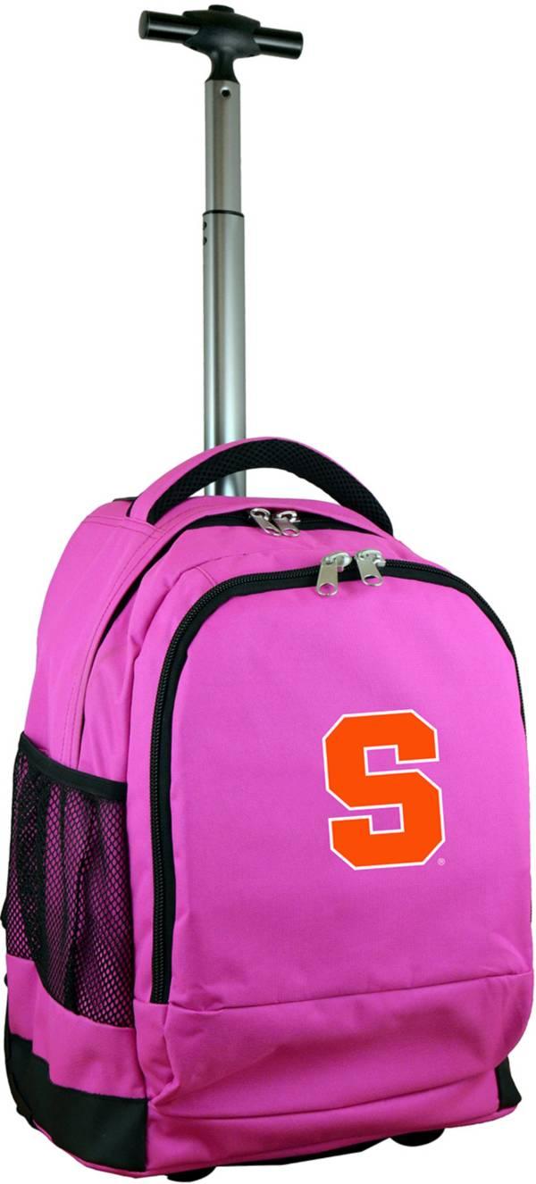 Mojo Syracuse Orange Wheeled Premium Pink Backpack product image