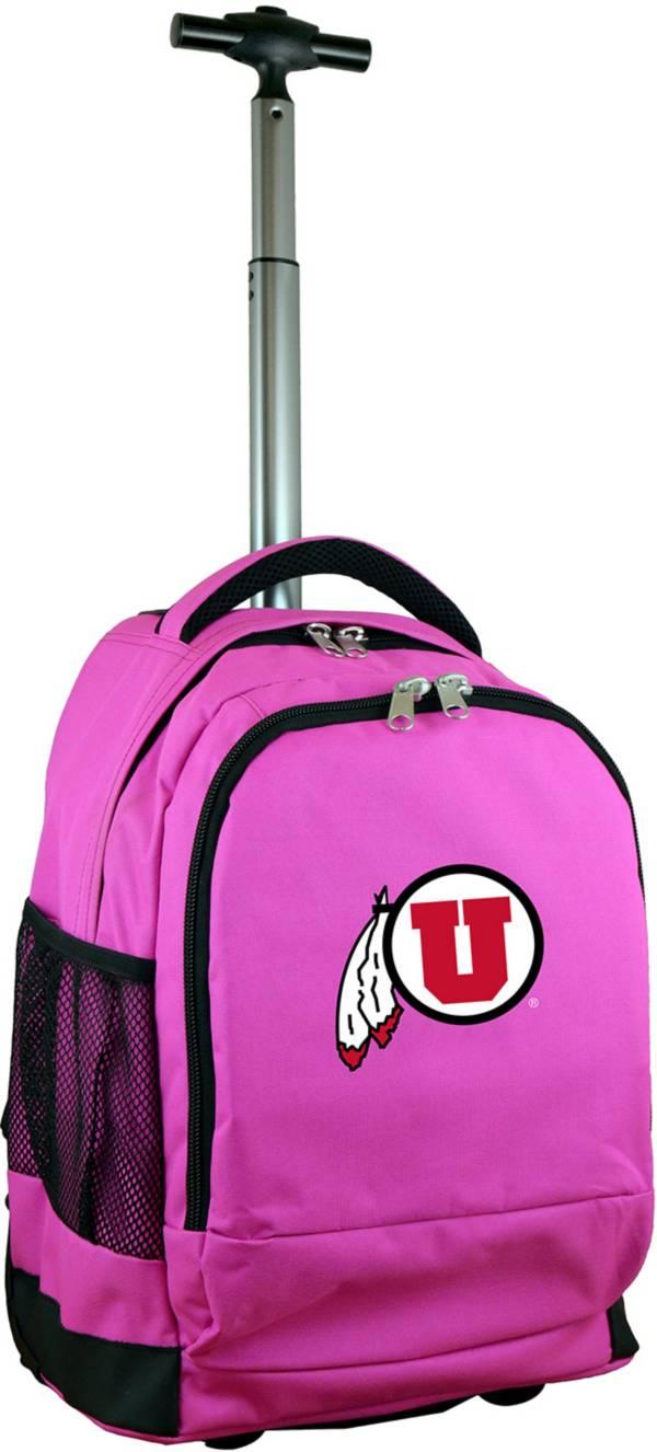 Mojo Utah Utes Wheeled Premium Pink Backpack product image