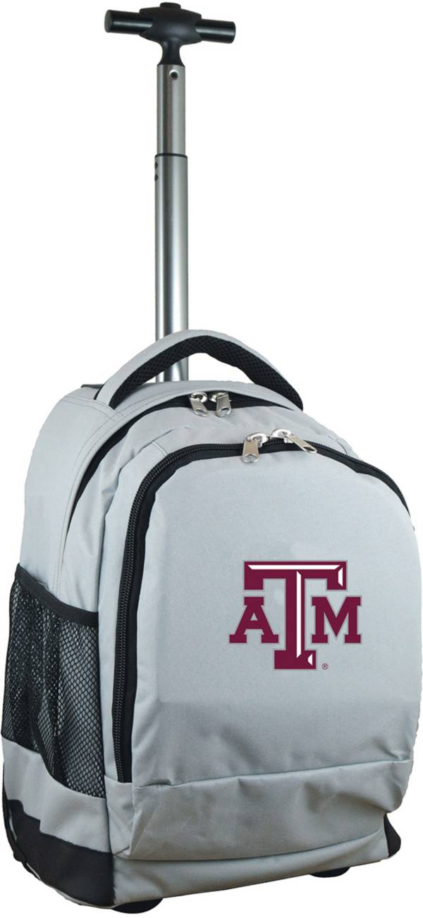 Mojo Texas A&M Aggies Wheeled Premium Grey Backpack product image