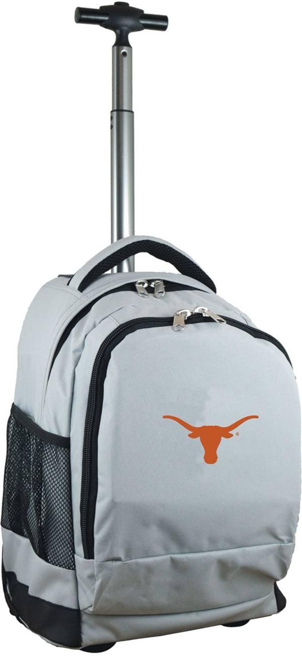 Mojo Texas Longhorns Wheeled Premium Grey Backpack product image
