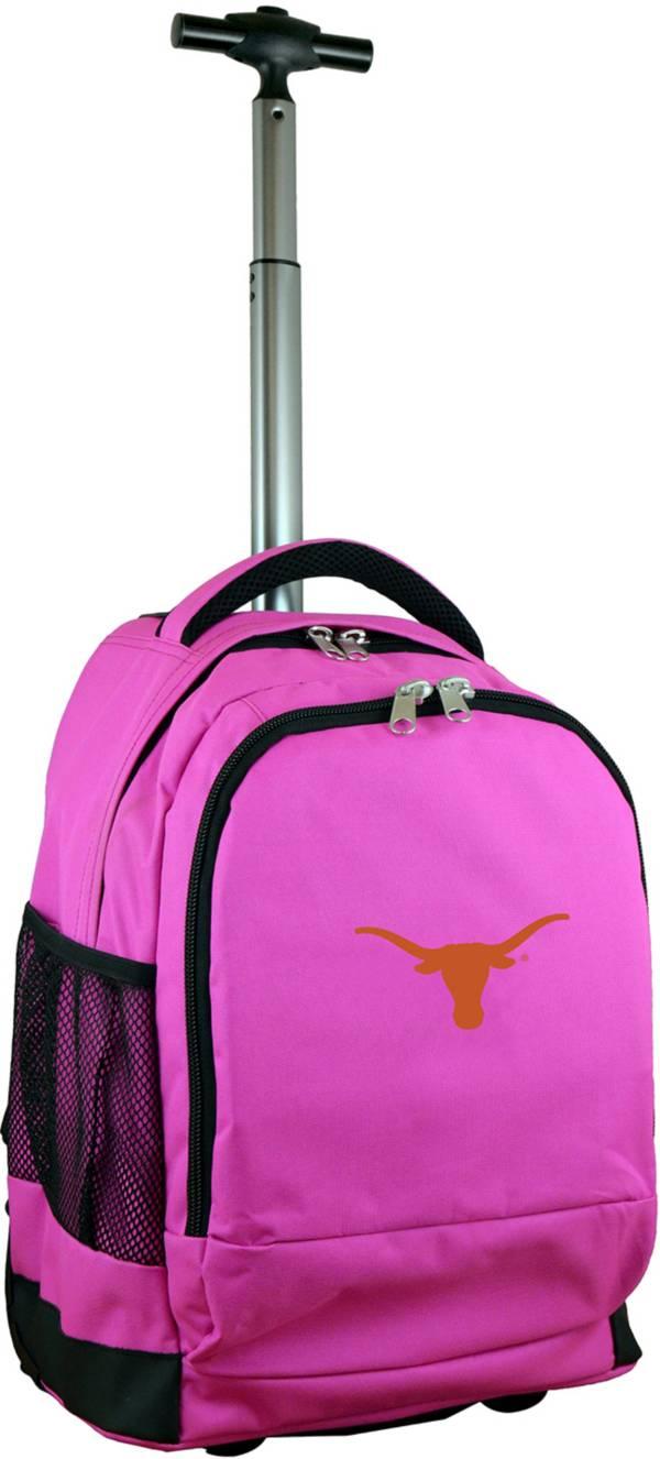 Mojo Texas Longhorns Wheeled Premium Pink Backpack product image